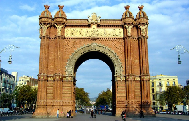 Imatge de l'arc de triomf de Barcelona, construít per l'Exposició Universal de 1888