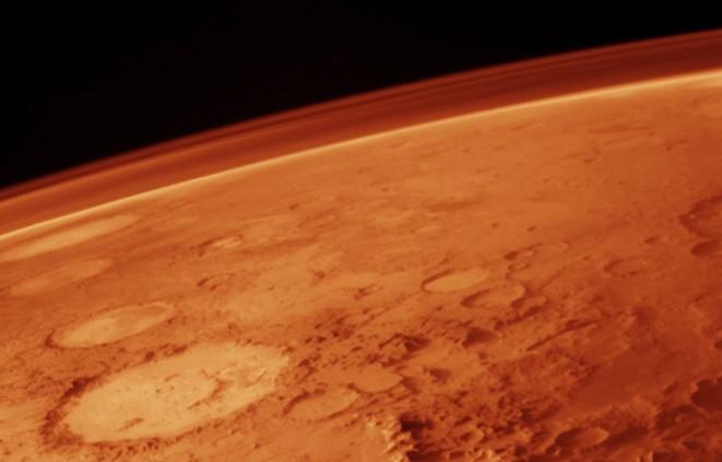 Imatge de la superfície i l'atmòsfera de Mart