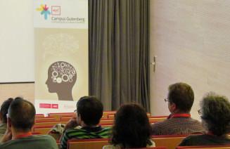 Imatge d'una sessió del Campus Gutenberg del 2014