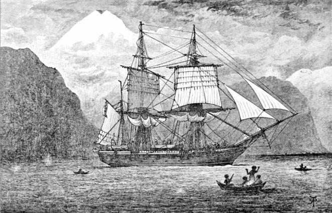 Imatge del Beagle, el vaixell on viatjà Charles Darwin