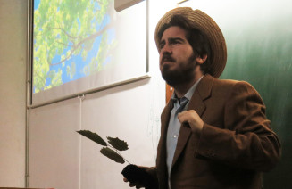 Imatge d'actor representant el botànic Pius Font i Quer