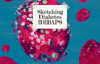 Imatge de la portada del llibre Sketching Diabetis IDIBAPS