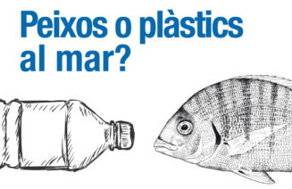 Detall del cartell de la jornada Peixos o plàstics al mar?