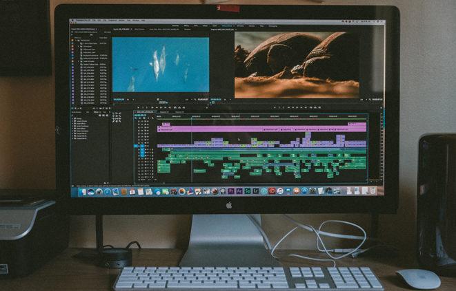 Imatge d'un programa d'edició de vídeo i audiovisuals
